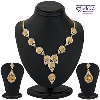 Sukkhi Gold Plated AD stone Neackalce Stone