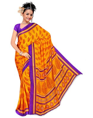 Dealtz Fashion Yellow Gadwal Silk Saree