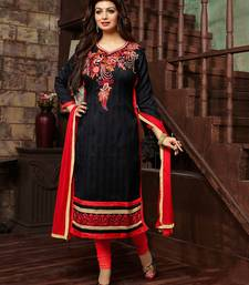 Buy Black Bhagalpuri embroidered semi stitiched salwar with dupatta ayesha-takia-salwar-kameez online