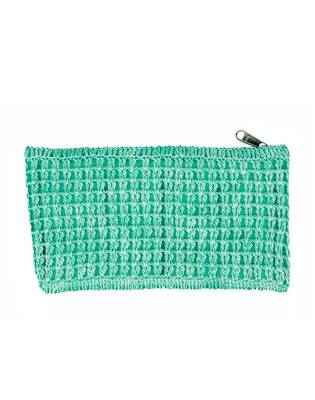 Crochet Clutch in Sea Green