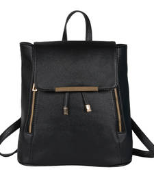 Buy Black pu cadence backpack backpack online