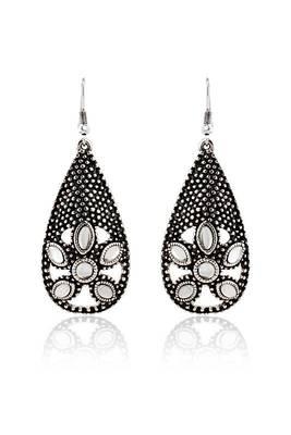 Just Women Silver color Metal Greek Style Earrings