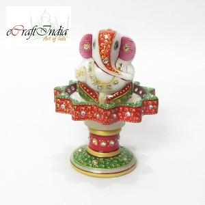 eCraftIndia Lord Ganesha on Marble Stand