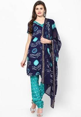 Ethnic Bandhni Design Cotton Dress Material