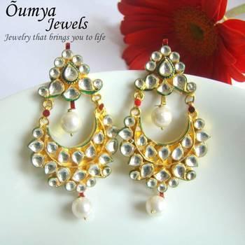 Kundan chandeliar earrings