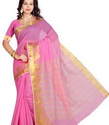 Buy Pink maheshwari  saree with blouse maheshwari-saree online