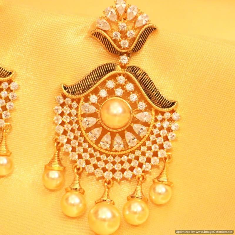 Buy Antique Diamond Look Pearl Danglers Online