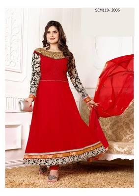 Zarine Khan Georgette Embroidered Anarkali Suits
