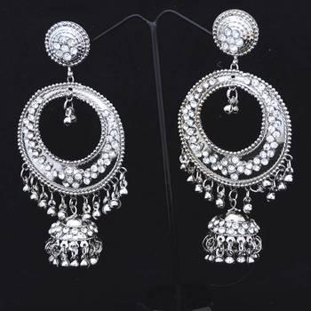 Buy Silver Circular Jhumka Online