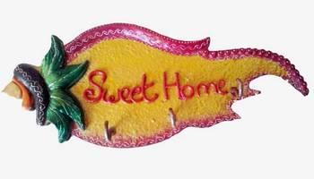 sweet home key ring holder