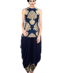 Buy Navy Blue Indo Western Dhoti Pant & Jacket black-friday-deal-sale online