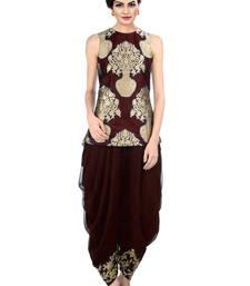 Buy Maroon Indo Western Dhoti Pant & Jacket indowestern online
