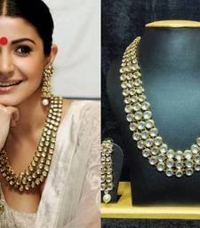 Buy Anushka Sharma Famous Jewelry Set Golden Outline hot-deal online