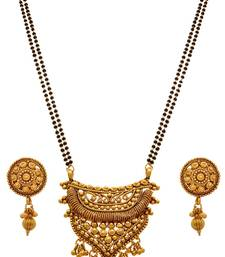 Buy JFL - Traditional Ethnic One Gram Gold Plated Designer Mangalsutra with Earring mangalsutra online