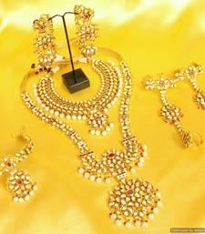 Buy Ruby kundan meenakari royal bridal necklace set bridal-set online