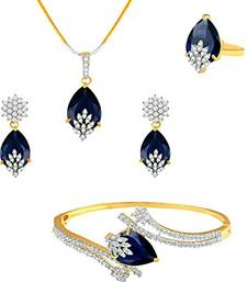 Buy Pendant and bracelet combo with ring diwali-jewellery online