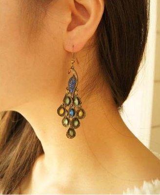 Classic Peacock Earrings