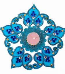 Buy Blue shaded artificial diwali rangoli diwali-decoration online