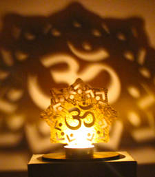 Buy Shadow diya tealight candle holder of removable om diya online