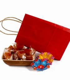 Buy Diwali bag of aam papad bowl with earthen diyas diwali-dry-fruit online