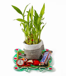 Buy Good luck gift for your brother on bhaidooj diwali-puja-thali online