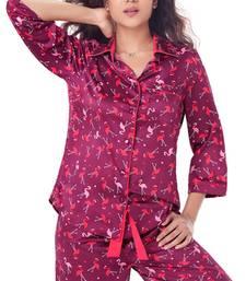Buy PrettySecrets Satin Pajama Set sleepwear online