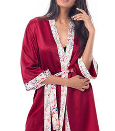 Buy PrettySecrets Satin Kimono Wrap sleepwear online
