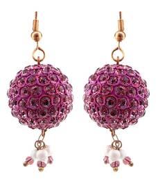 Buy Handmade Peach Lakh Ball Jhumka Set hoop online