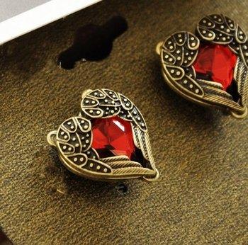 Rhinestone Embellished Sweetheart Earrings