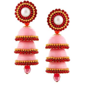 Designer Handcrafted Paper Quilling Triple Jhumka