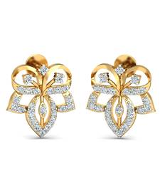 Buy 0.35ct diamond studs 18kt gold earrings gemstone-earring online