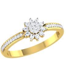 Buy 0.21ct diamond 18kt gold rings gemstone-ring online