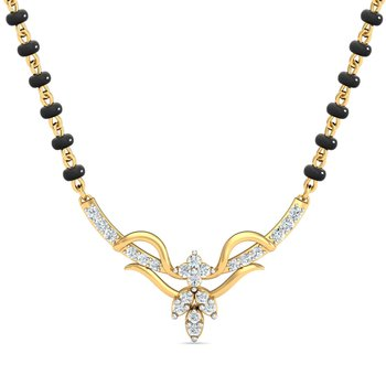 0.16ct diamond 18kt gold mangalsutra