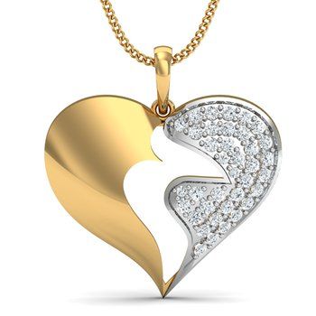0.23ct diamond 18kt gold pendants