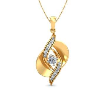 0.14ct diamond 18kt gold pendants