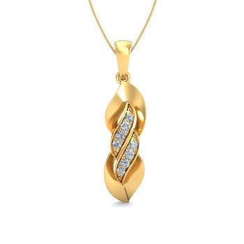 0.07ct diamond 18kt gold pendants