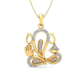 0.36ct diamond 18kt gold pendants