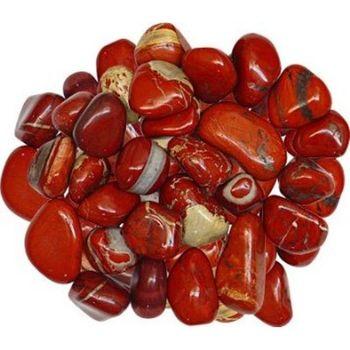 Red tumbled stone set of 3 root chakra healing crystal gemstone