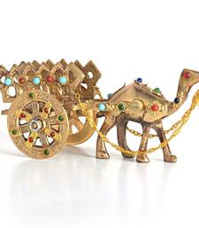 Buy Gemstone studded pure brass camel handicraft fashion-deal online