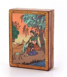 Buy Gemstone meera painting wooden jewelry box home-decor online