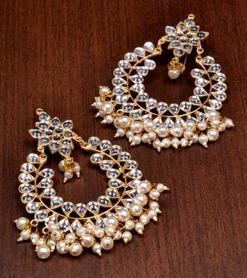 Baby Pearls and Kundan Embellished Dangler Earrings 217EDS49