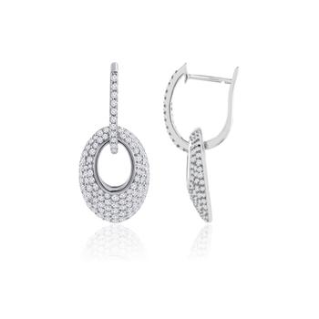 2.21ct cubic zirconia Semi precious gemstone-earrings