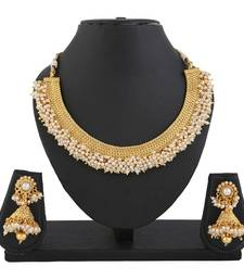 Buy Gold pearl necklace-sets black-friday-deal-sale online