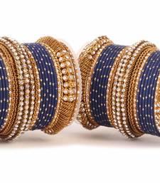 Buy Blue Kundan bangles and bracelets bangles-and-bracelet online