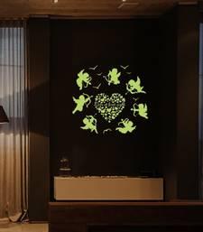 Buy Radium Love Angels' Glow in Dark Wall Sticker (21 cm X 29.7 cm) wall-decal online