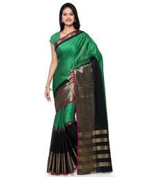 Buy Green hand woven cotton silk saree with blouse cotton-silk-saree online