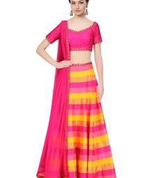 Buy multicolor printed art silk pakistani-lehengas pakistani-lehenga online