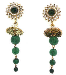 Buy gold plated colourful hanging danglers-drop online
