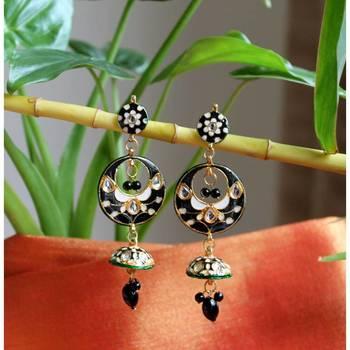 Enamel and Kundan work Earrings