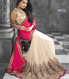 Buy Pink embroidered georgette saree with blouse georgette-saree online